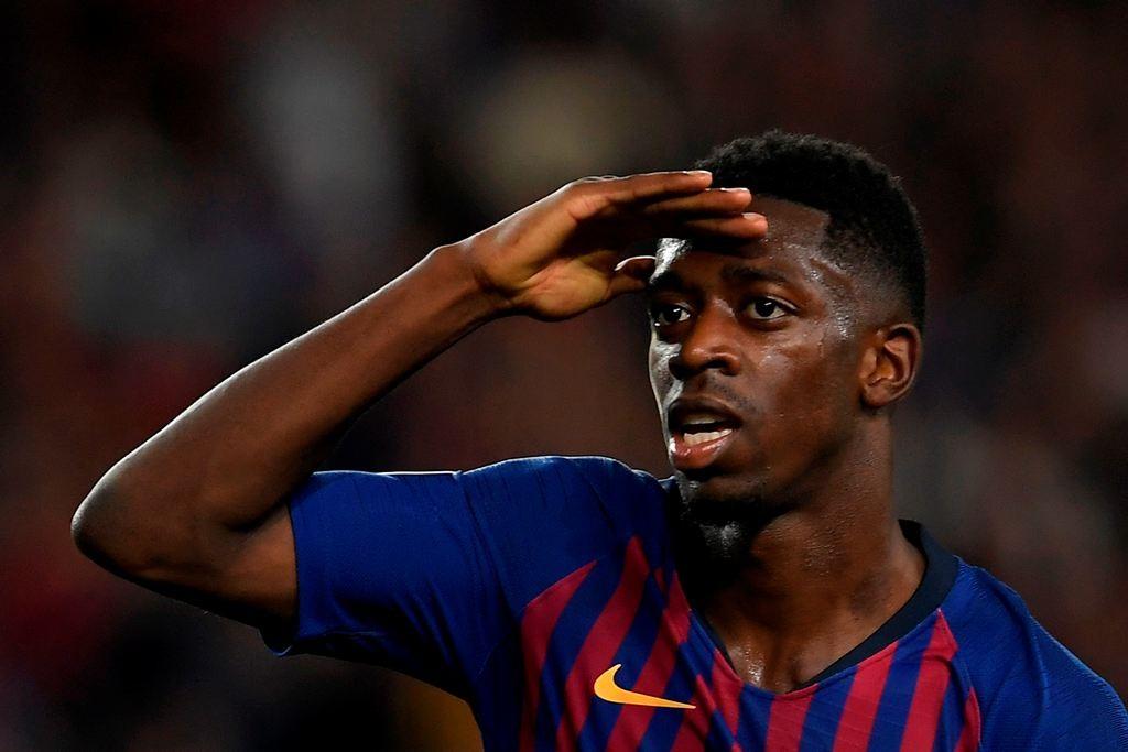 Pemain Barcelona, Ousmane Dembele (AFP/Lluis Gene)