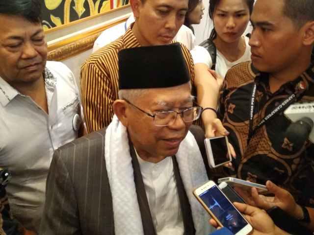 Calon Wakil Presiden nomor urut 01 Ma'ruf Amin. Foto: Medcom.id/Muhammad Al Hasan