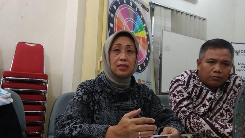 Anggota Ombudsman Republik Indonesia (ORI), Ninik Rahayu (tengah) di Kantor ORI Perwakilan DIY, Sabtu, 10 November 2018. Medcom.id-Ahmad Mustaqim