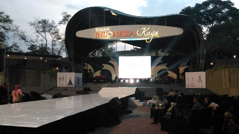 Suasana panggung Taman Indonesia Kaya jelang Semarang Internasional Keroncong Festival Di Semarang, Jawa Tengah, Sabtu, 11 November 2018. Medcom.id/ Mustholih.