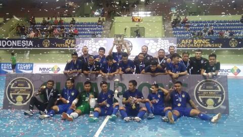 Thailand Pertahankan Gelar Juara Piala AFF Futsal dengan Susah Payah