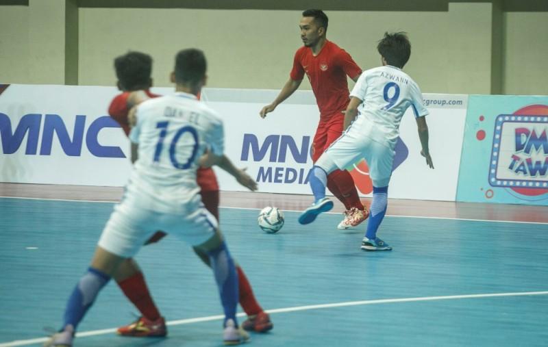 Suasana pertandingan saat Indonesia kontra Malaysia pada AFF Futsal 2018 (Foto: Antara/Hendra Nurdiyansyah)