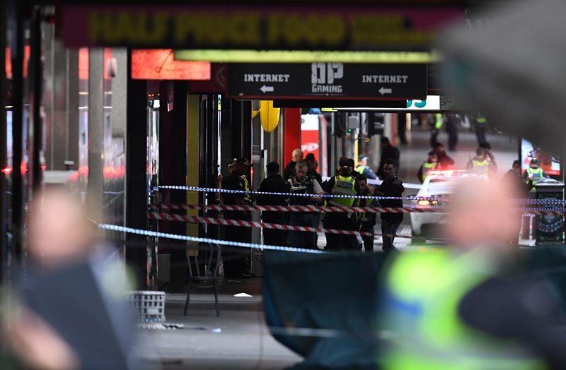 Insiden penikaman yang terjadi di Melbourne, Australia, 9 November 2018. (Foto: AFP).