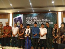 Ma'ruf Hadiri Peluncuran Buku Arus Baru Ekonomi Indonesia