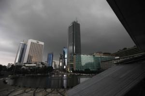 Langit Jakarta Diselimuti Awan