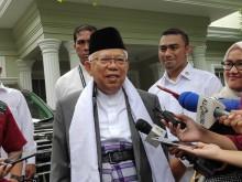 Ma'ruf dan Moeldoko Bahas Jurus Mendongkrak Elektabilitas