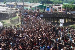 Jelang Repatriasi, Tentara Bangladesh Datangi Pengungsi Rohingya
