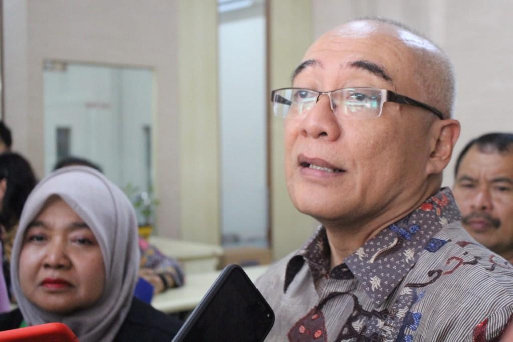Kepala Badan Kepegawaian Negara (BKN), Bima Haria Wibisana di SMKN 2 Kota Malang, Jawa Timur, Jumat, 16 November 2018. Medcom.id/ Daviq Umar Al Faruq.