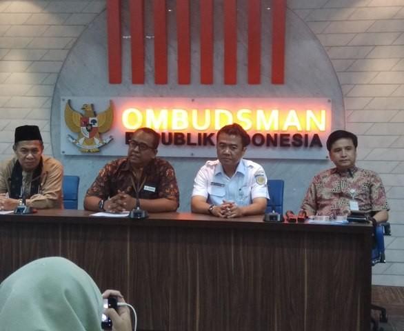 Konferensi pers ombudsman RI perwakilan Jakarta Raya soal isu sengketa lahan Skybridge. Foto: Medcom.id/Fachri Audhia Hafiez