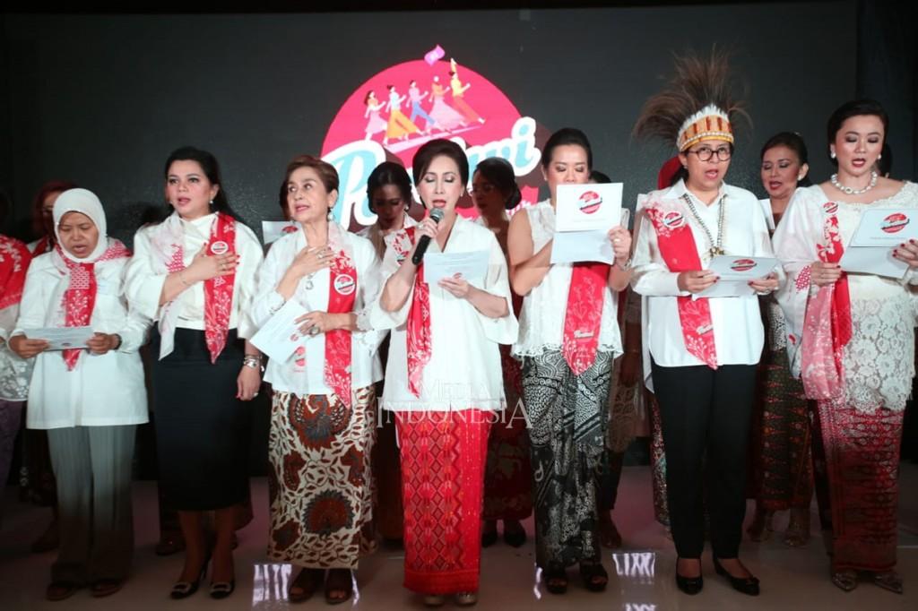 Relawan Perempuan Pertiwi Deklarasi Dukungan untuk Jokowi-Ma'ruf