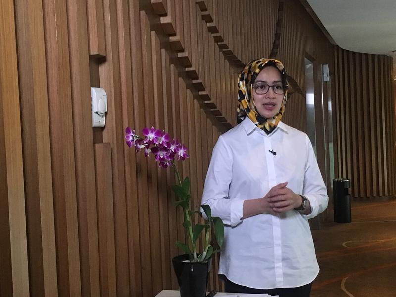 Wali Kota Tangerang Selatan, Airin Rachmi Diany, Jumat, 16 November 2018. Medcom.id/Farhan Dwitaman