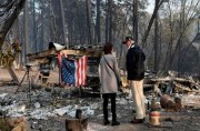 Trump Kunjungi Lokasi Terparah Kebakaran Hutan California