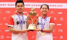 Tak Diunggulkan, Leo/Indah Sabet Medali Emas pada Kejuaraan Dunia Junior BWF 2018