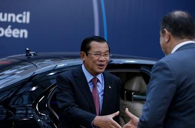 PM Kamboja Hun Sen di Brussels, Belgia, 19 November 2018. (Foto: