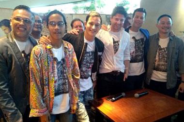 Jumpa pers film Message Man  di XXI Epicentrum Jakarta, Senin,