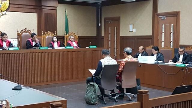 Suasana sidang pleidoi Irvanto di Pengadilan Tipikor Jakarta,Rabu, 21 November 2018/Medcom.id/Damar Iradat