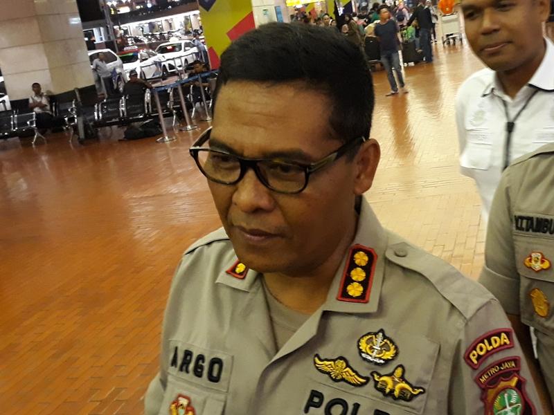 Kabid Humas Polda Metro Jaya Kombes Argo Yuwono, di Bandara Soekarno-Hatta, Tangerang. Medcom.id/Hendrik Simorangkir
