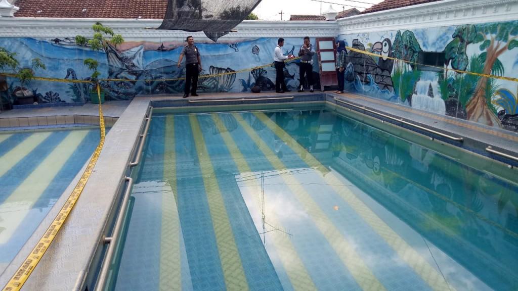 Kolam renang yang menewaskan dua bocah di wilayah Kampung Kricak, Kecamatan Tegalrejo, Kota Yogyakarta. Foto: Dok. Polsek Tegalrejo.