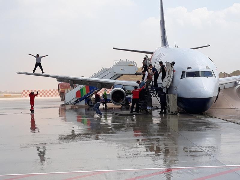 Simulasi penangan kecelakaan pesawat di Bandara Soekarno-Hatta. Medcom.id/Hendrik Simorangkir