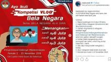 Ayo! Ikut Kompetisi Vlog dan Meme Bela Negara Berhadiah Total Rp20 Juta
