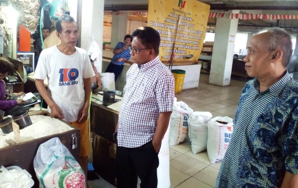 Hasil pantauan di pasar Bogor, ketersediaan pasokan dan harga pangan stabil (Foto:Dok.Kementan)