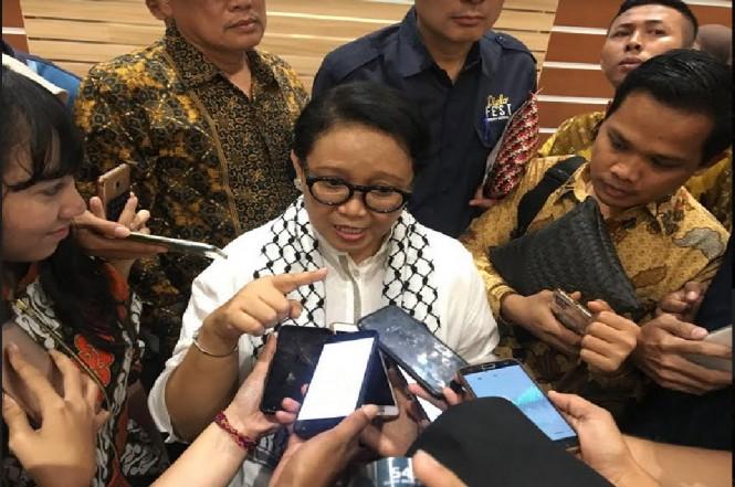 Menteri Luar Negeri Retno Marsudi di Surabaya, Sabtu, 24 November 2018, Medcom.id - Amal