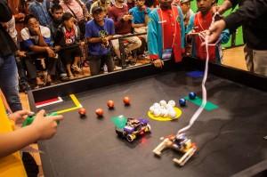 Antusias Peserta di Kontes Robot Pintar Yogyakarta