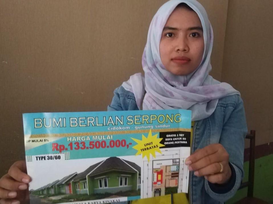 Agustina Damayanti, korban pengembang rumah subsidi Bumi Berlian Serpong, Senin 26 November 2018. Medcom.id/Farhan Dwitama