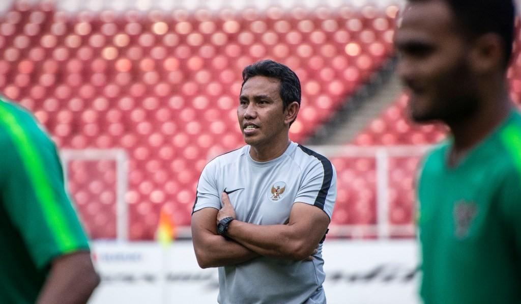 Pelatih timnas Indonesia Bima Sakti (Foto: Antara/Aprillio Akbar )