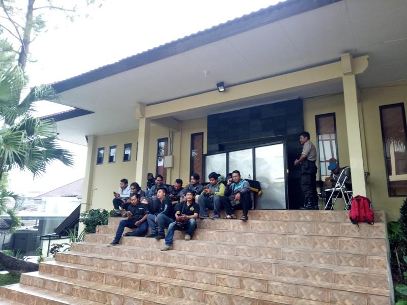 Ruangan aula Mapolres Malang Kota yang digunakan sebagai ruang pemeriksaan KPK.