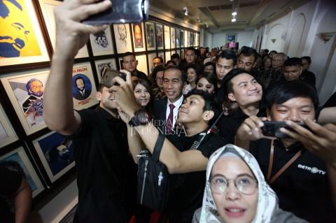 Presiden Hadiri Puncak HUT ke-18 Metro TV