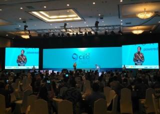 Jokowi Urges CEOs to Stay Optimistic