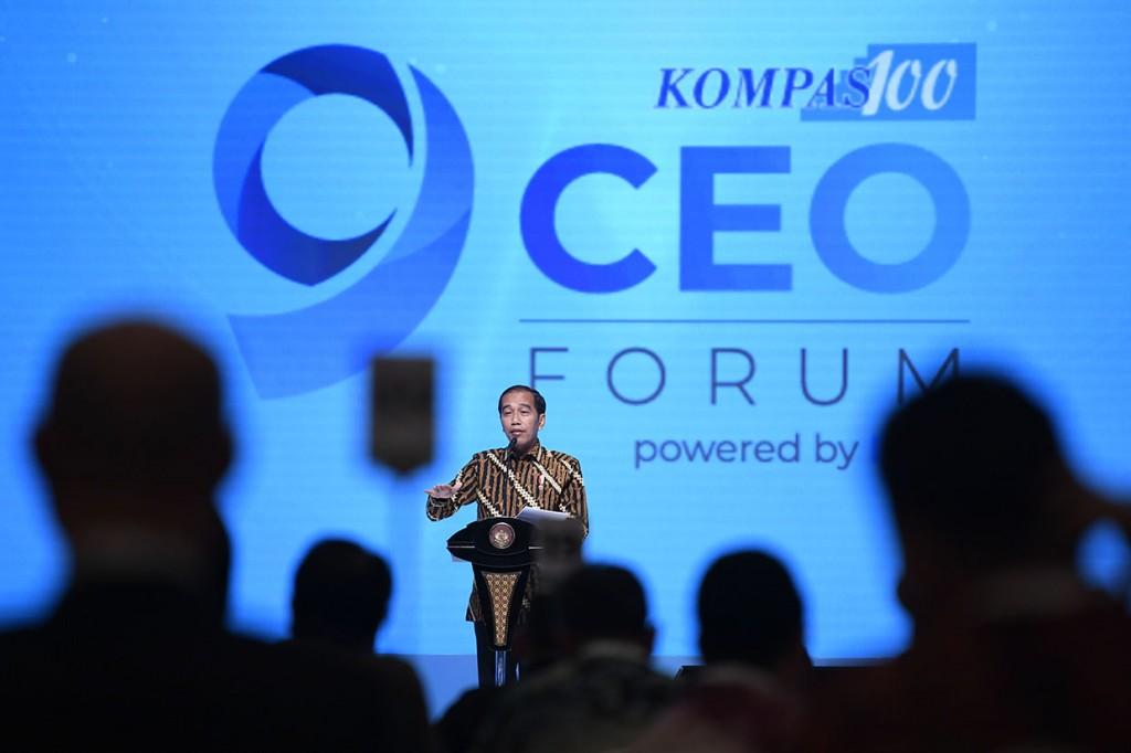 Jokowi Ajak CEO Ambil Peluang dari Perang Dagang AS-Tiongkok