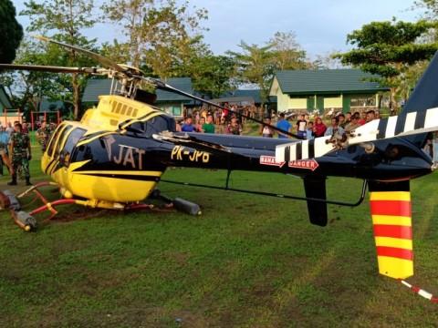 Helikopter Mendarat Darurat di Jeneponto Rusak Mesin