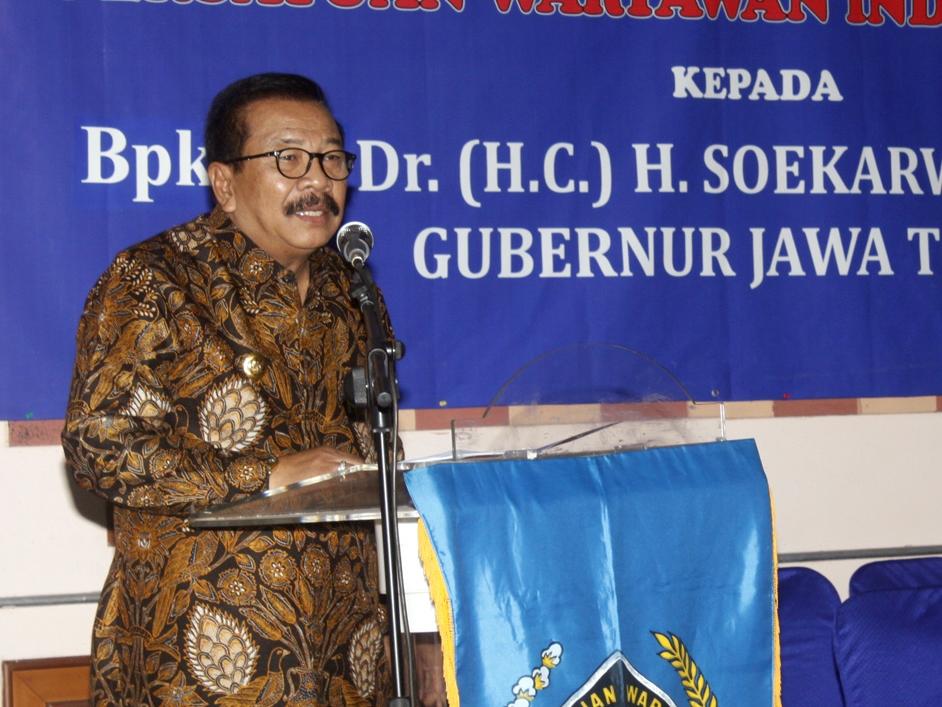 Gubernur Jawa Timur Soekarwo. MI/Bary Fathahilah