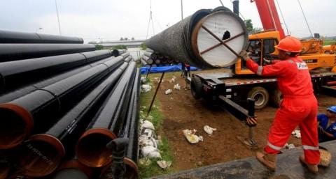 Pertagas Alirkan Gas Pertama di Ruas Pipa Grissik-Pusri