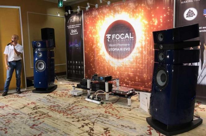 Sistem high-end audio milik Focal, pakai bahan bodi mobil F1. Medcom.id/Ahmad Garuda