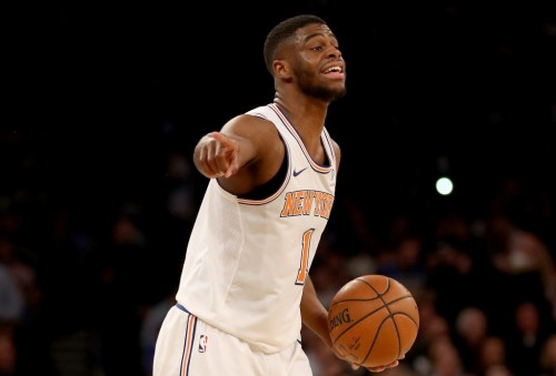Point guard New York Knicks, Emmanuel Mudiay (AFP/Elsa)