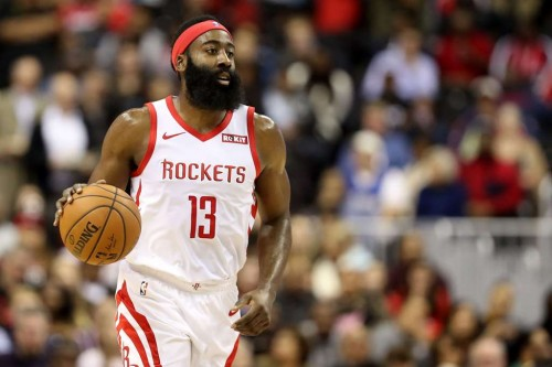 Shooting guard Houston Rockets, James Harden (AFP/Rob Carr)