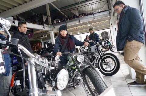 Builder Nasional Sambangi Markas Fred Kodlin Motorcycles