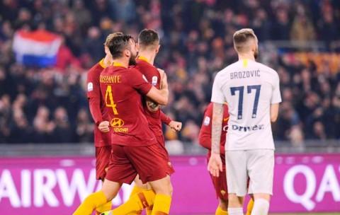 Berlangsung Sengit, Roma Berbagi Angka dengan Inter