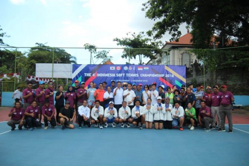 Tim Soft Tenis Indonesia (Foto: Dok The 4th Indonesia Soft