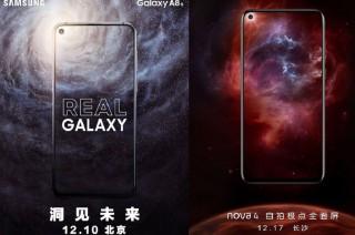 Samsung Galaxy A8s dan Huawei Nova 4 Bersiap Muncul