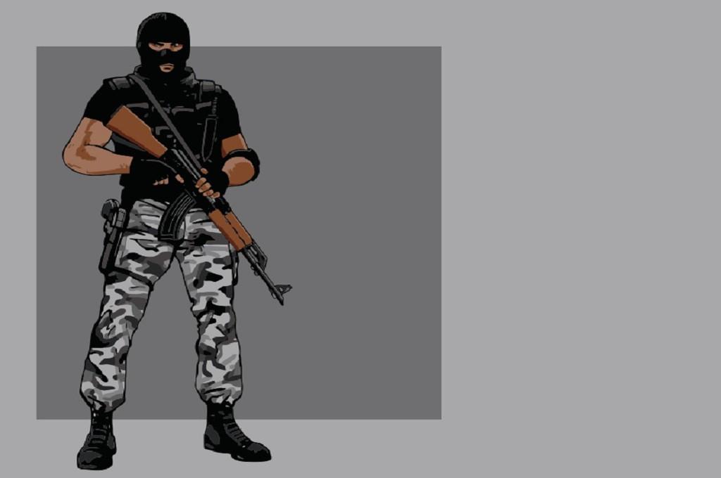 Ilustrasi kelompok bersenjata, Medcom.id - M Rizal
