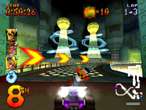 Gameplay Crash Team Racing (CTR).