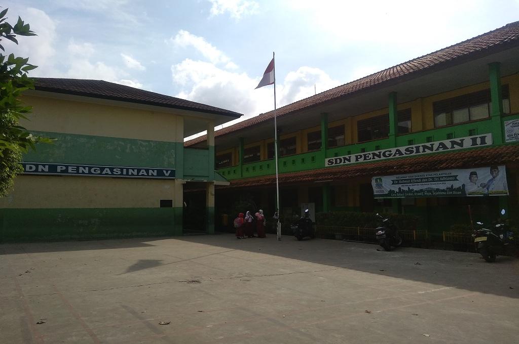 Suasana SDN Pengasinan II, Kota Bekasi, Jawa Barat, Medcom.id - Antonio