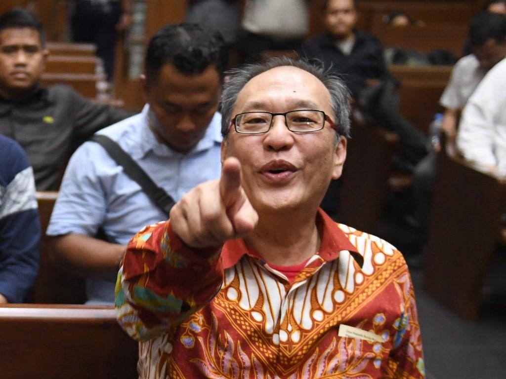 Irvanto Hendra Pambudi saat menjalani sidang pembacaan putusan di Pengadilan Tipikor, Jakarta, Rabu (5/12/2018). Foto: Antara/Akbar Nugroho Gumay.