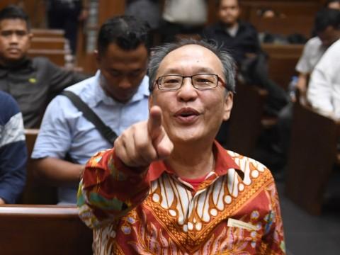 Irvanto Hendra Pambudi saat menjalani sidang pembacaan putusan