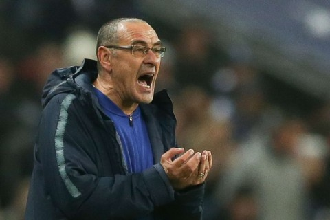 Manajer Chelsea, Maurizio Sarri  (Foto AFP/DANIEL LEAL-OLIVAS)