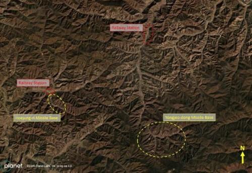 Citra satelit menunjukkan situs rudal jarak jauh Korut di